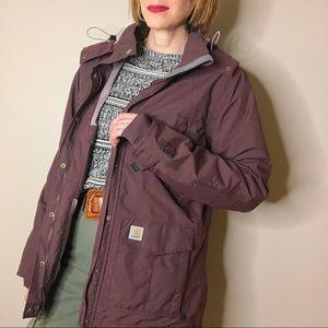 Carhartt Shoreline deep wine waterproof jacket M